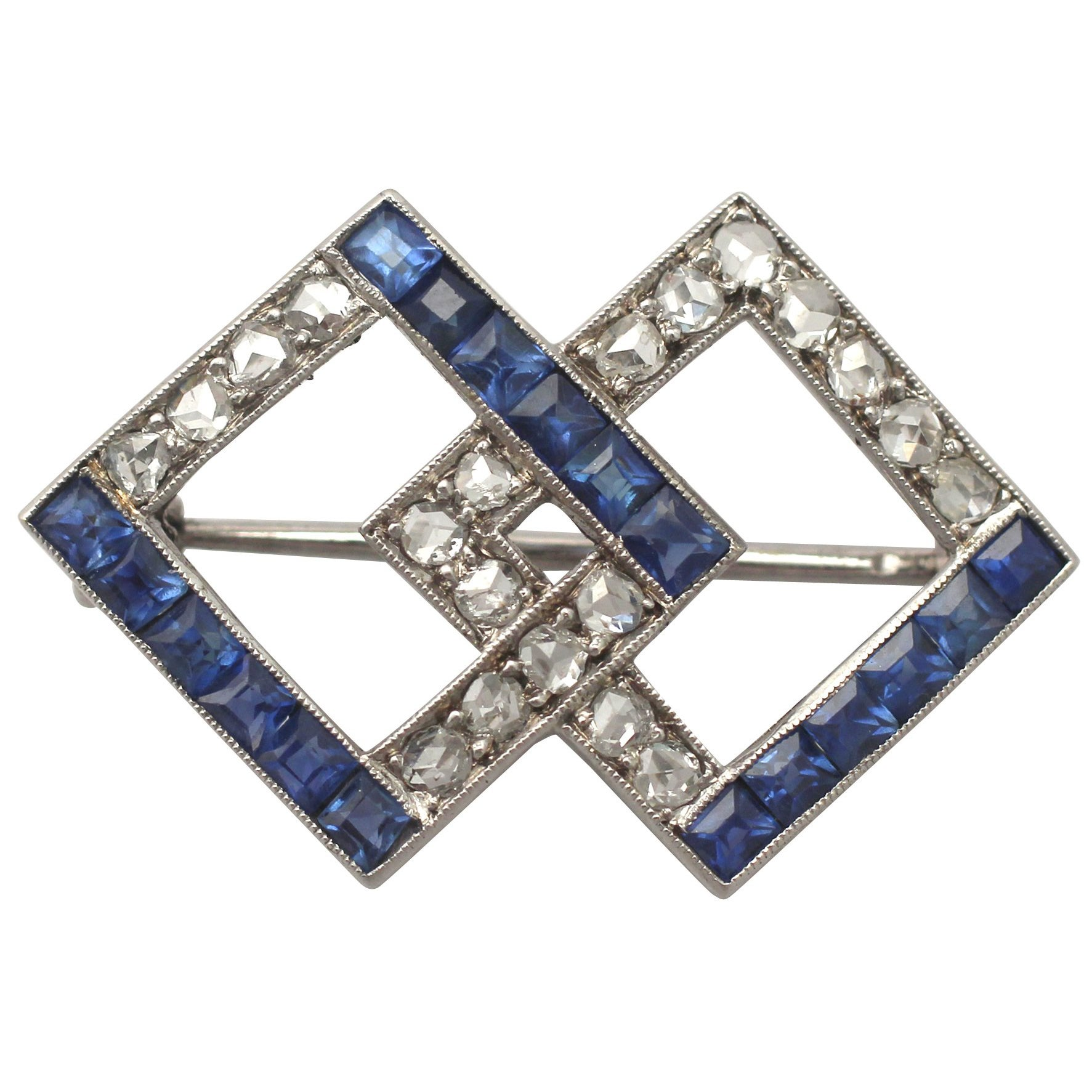platinum diamond sapphire truefacet at and brooch buy