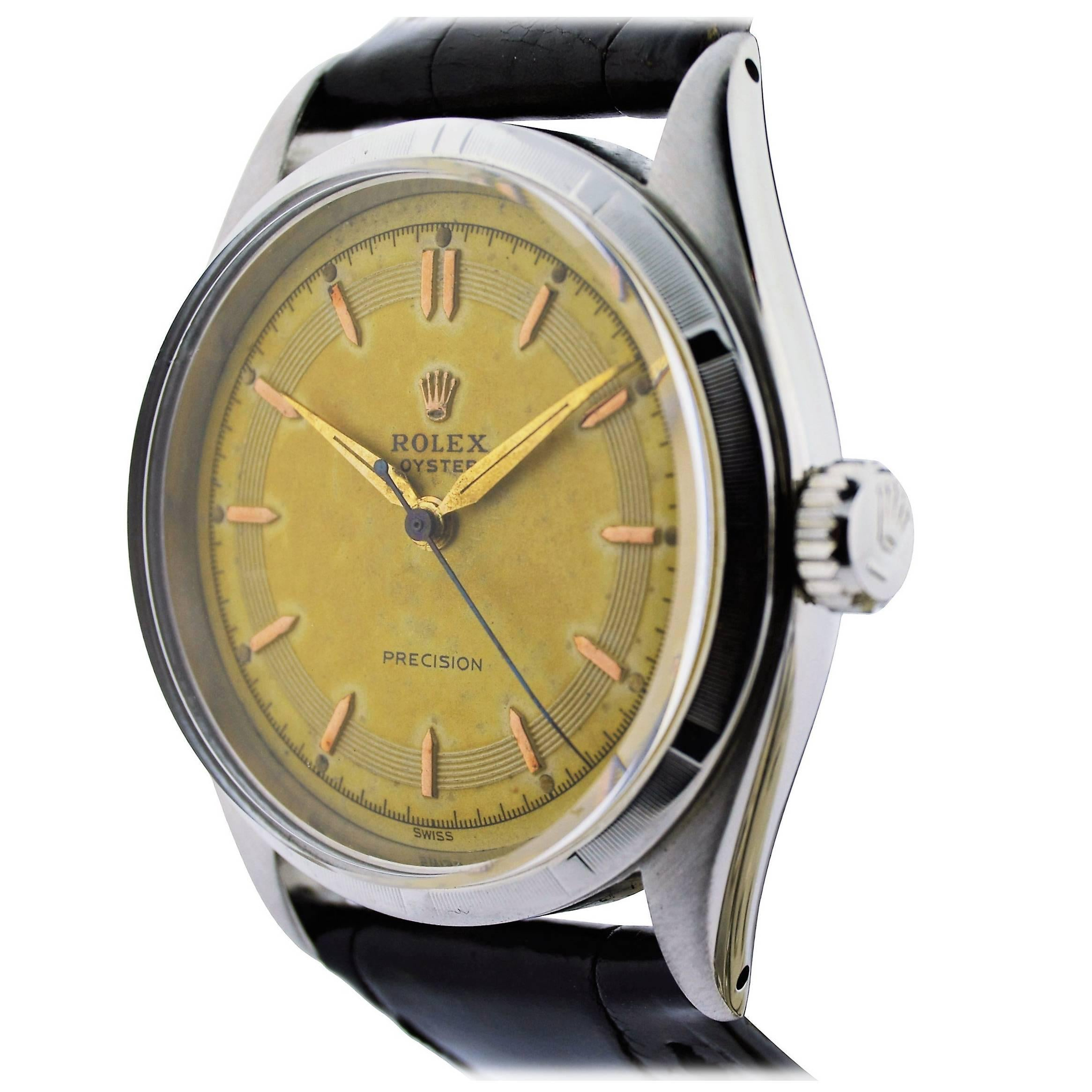 Rolex Stainless Steel Oyster Precision Index Bezel Watch From 1952