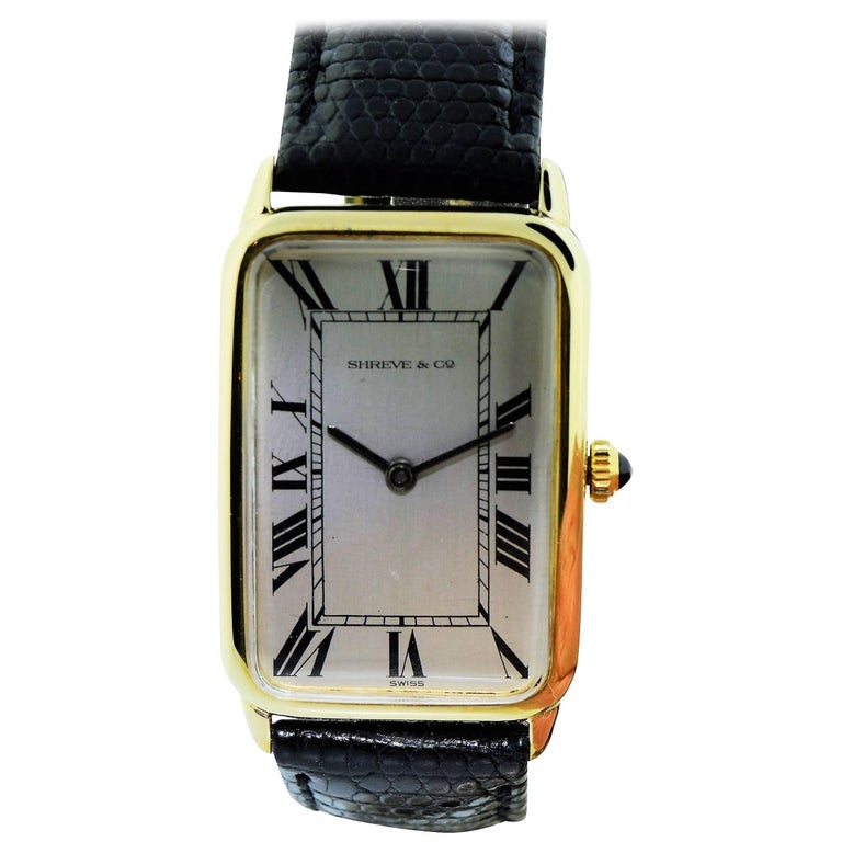Concord for Shreve & Co. Yellow Gold Manual Wind Watch For Sale