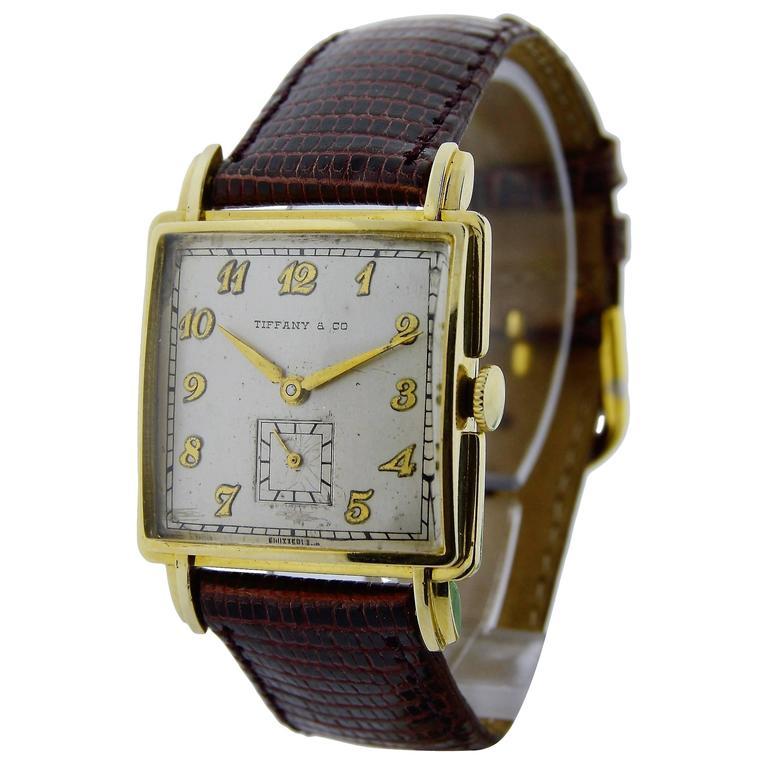 Tiffany & Co. Movado Watch Co. Yellow Gold Watch