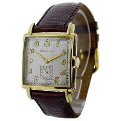 Tiffany & Co. Movado Watch Co. Yellow Gold Watch