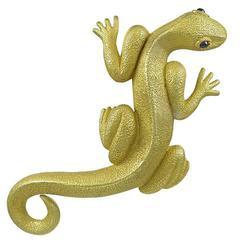 Kieselstein-Cord Colossal Gold Salamander Brooch