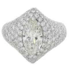 Luise Diamond Gold Dome Ring