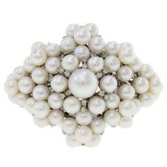 Pearls Diamond White Gold Bracelet