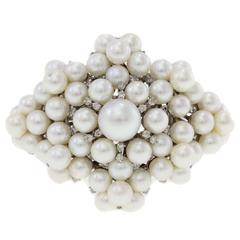 Luise White Pearls Diamond Gold Bracelet