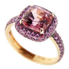 Jona Pink Spinel Pink Sapphire 18 Karat Rose Gold Ring
