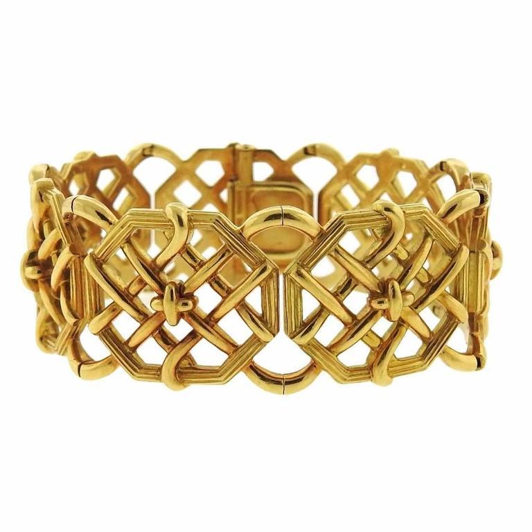 Tiffany & Co. Schlumberger Bamboo Weave Gold Bracelet