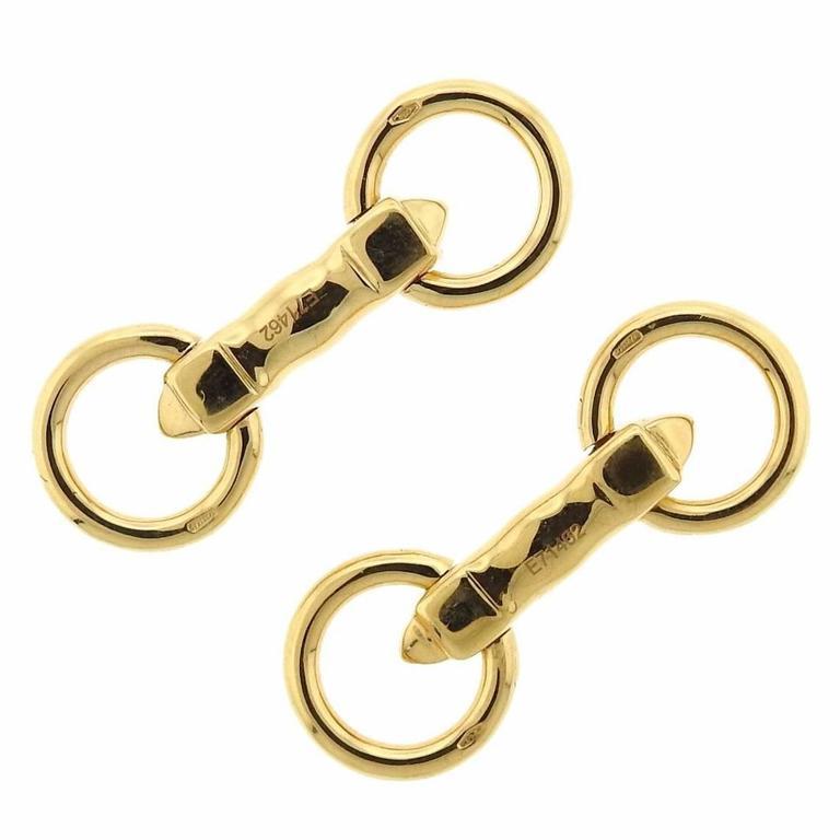 Cartier Gold Horsebit Cufflinks