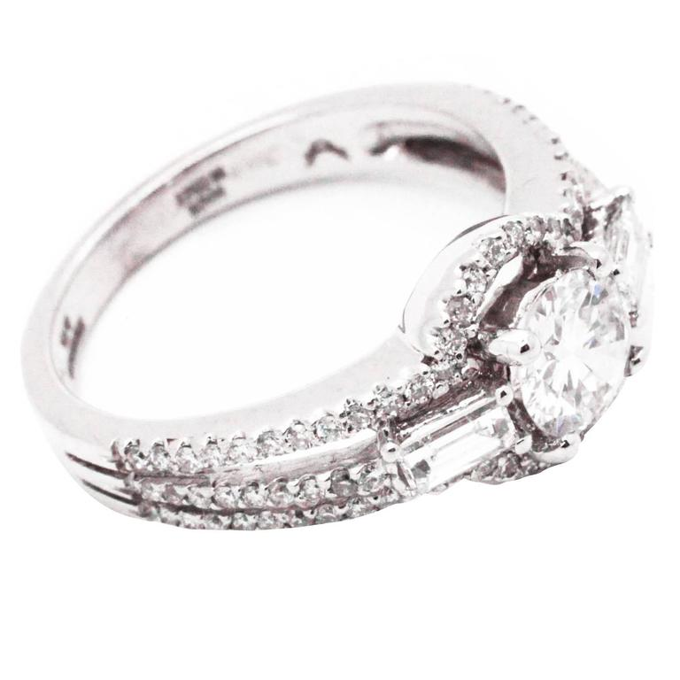Ferrucci & Co. 1.13 Total Carat Weight Diamond Gold Engagement Ring