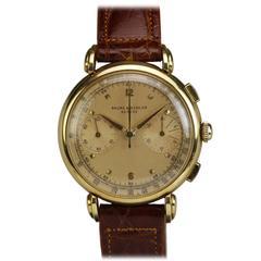 Baume & Mercier Yellow Gold Chronograph Wristwatch