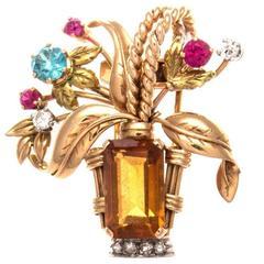 Retro Flower Brooch