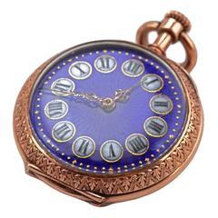 1900s Enamel Gold Pocket Watch