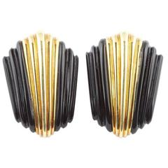 Turi Onyx Gold Earrings