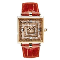 Sicis Labirinto Micromosaic Diamond Gold Beige Watch