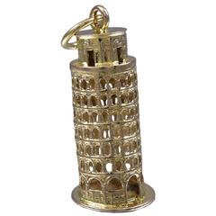 Leaning Tower of Pisa Gold Charm