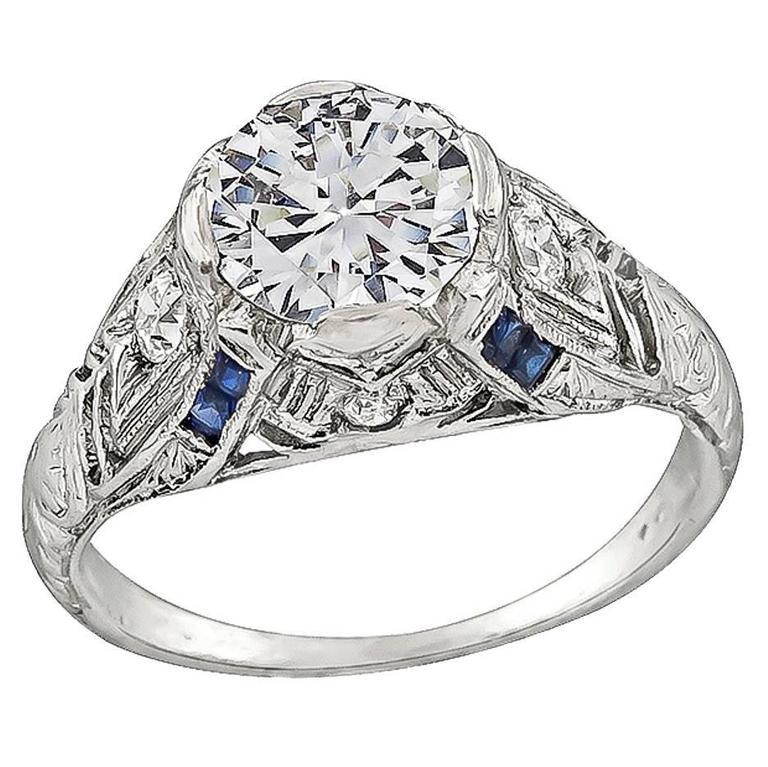 1.08 Carat Diamond Platinum Engagement Ring