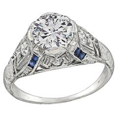 1.08 Carat Diamond Platinum Engagement Ring