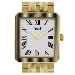 Piaget Yellow Gold White Dial Protocole M601D Quartz Wristwatch