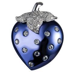 Lorenz Baumer Paris diamond gold Titanium Fraise Earrings