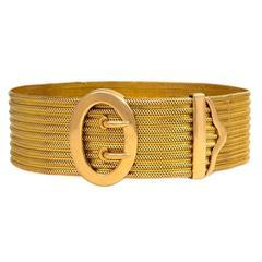 Antique Gold Adjustable Jarretière Bracelet