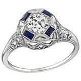 0.52 Carat Diamond Gold Engagement Ring