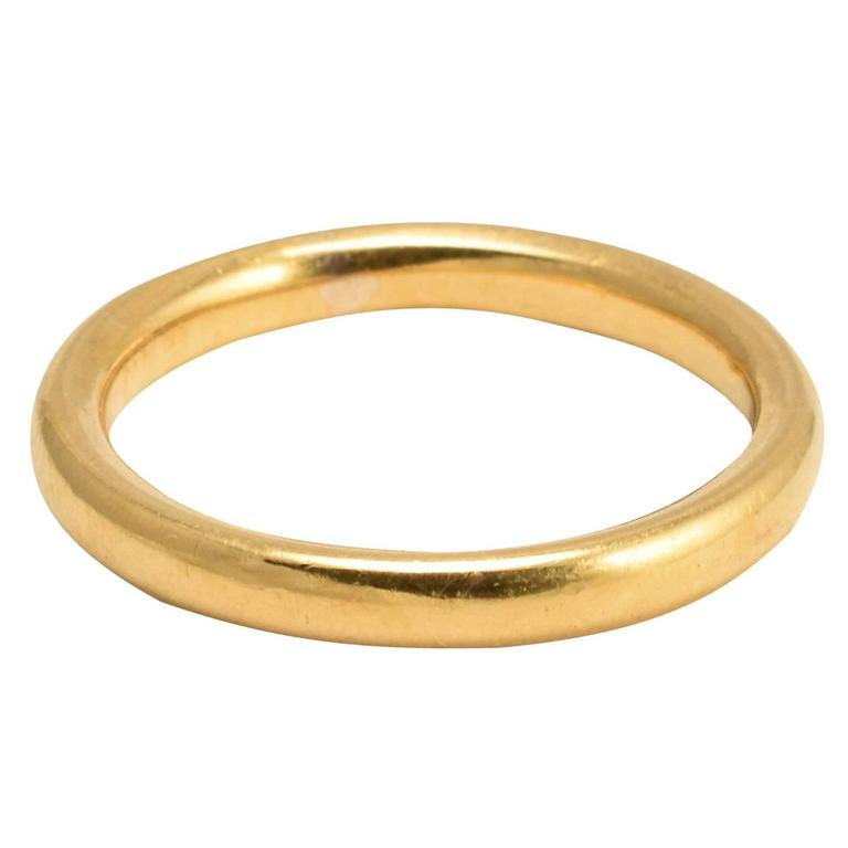 1920s 22k Gold Wedding Band For