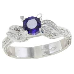 Luise Sapphire Diamonds White Gold Ring
