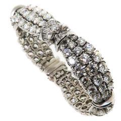 1960s  Harry Winston by Jacques Timey Diamond Platinum Bracelet