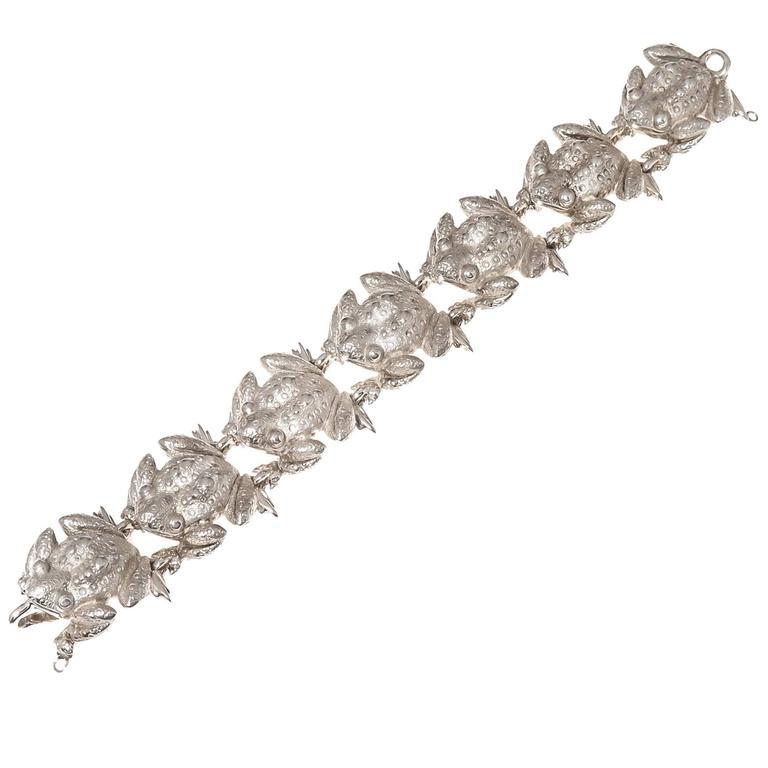 Tiffany & Co. Sterling silver Bull Frogs Bracelet For Sale