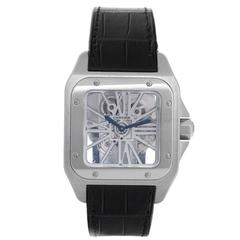 Cartier Palladium Santos 100 Skeleton XL Manual winding Wristwatch