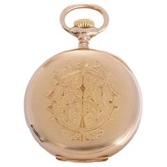 Patek Philippe Yellow Gold Relojoeiros Gondolo Open Face Pocket Watch