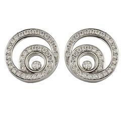 Chopard Diamond Gold Happy Diamonds Earrings