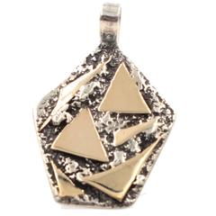 Victor Atyas Sterling Silver Gold Pendant