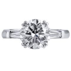 3.04 Carat Diamond platinum Engagement Ring