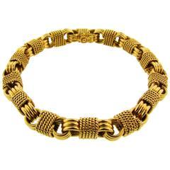 1970s Van Cleef & Arpels VCA Gold Link Bracelet