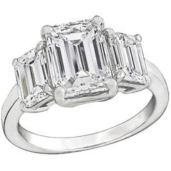 Impressive 2.10 Carat Center Diamond Platinum Engagement Ring