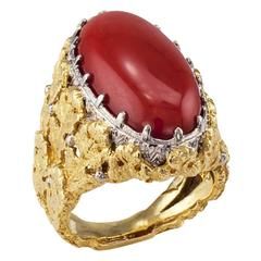 1970 Spritzer and Fuhrman Coral Gold Ring