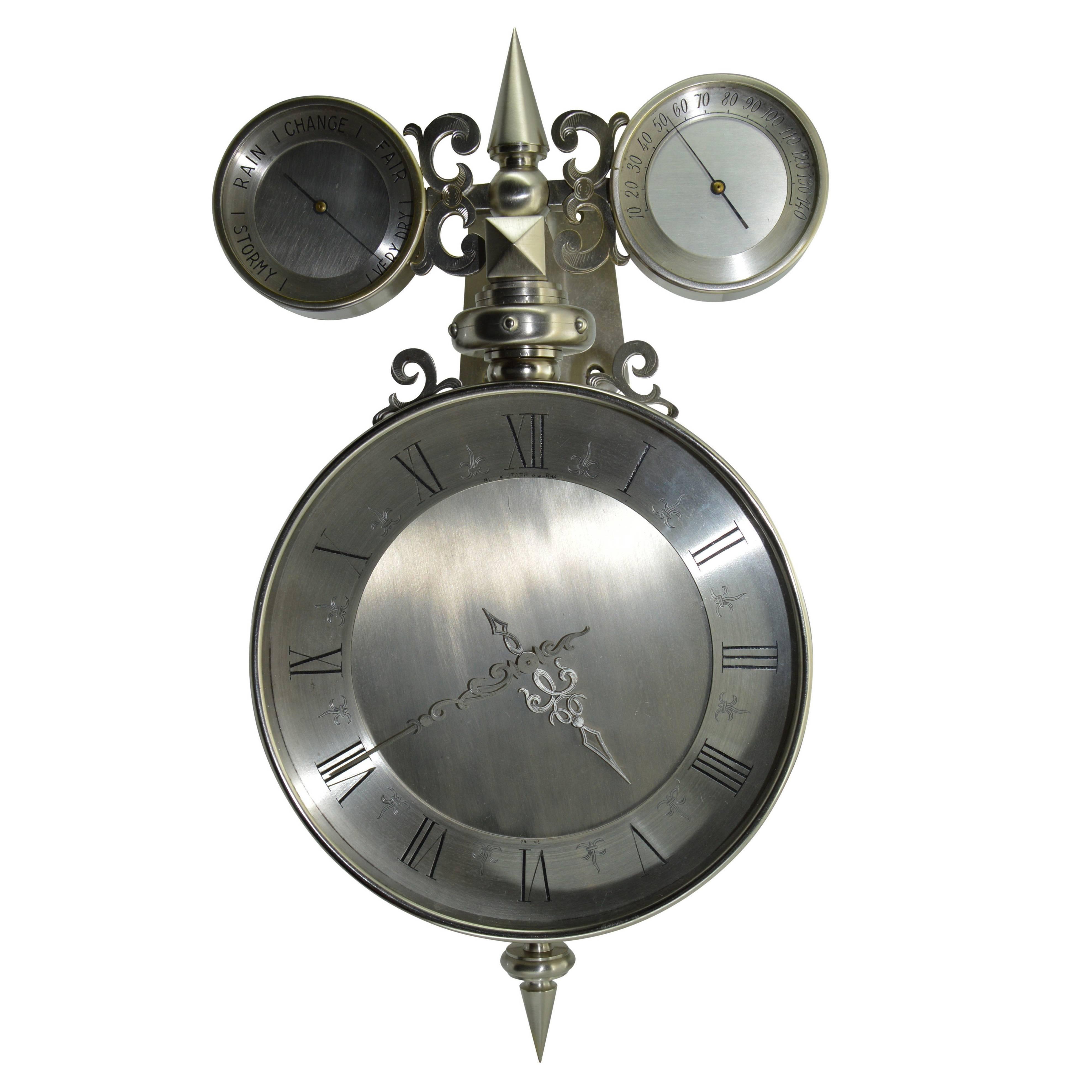 Black Starr & Gorham Gothic Bold Wall Clock in Original Box