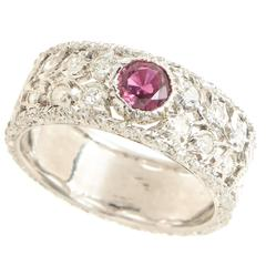 Buccellati Ruby Diamond Gold Band Ring
