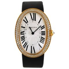Cartier rose gold Diamond Baignoire Wristwatch