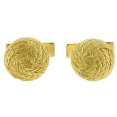 Classic Buccellati Gold Knot Cufflinks