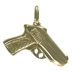 Heavy Gold Pistol Charm