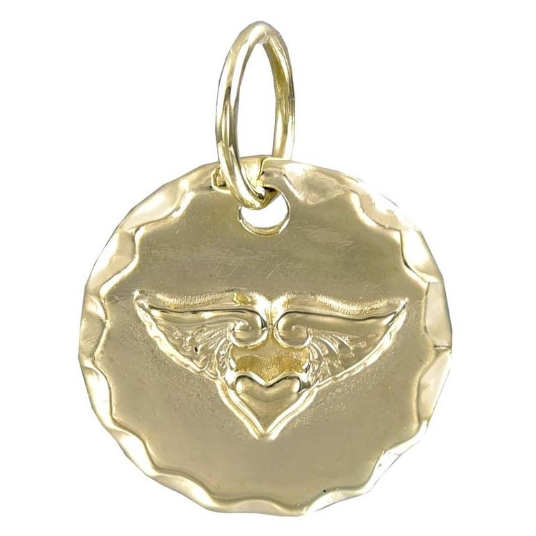Antique Protector Of My Heart Gold Charm