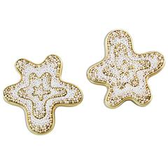 Sicis Fiore Gold Micromosaic Earrings
