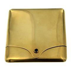 Sapphire Gold Match Safe