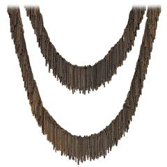Jessica Rose Multicolored Vermeil Chain Handmade Waterfall Fringe Necklace