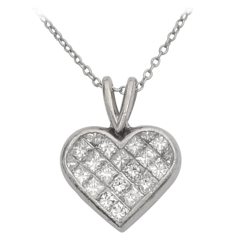 Ritani Diamond platinum Heart Pendant 1
