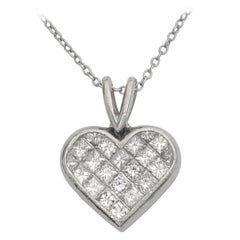 Ritani Diamond platinum Heart Pendant