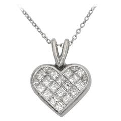 Ritani Diamond platinum Heart Pendant