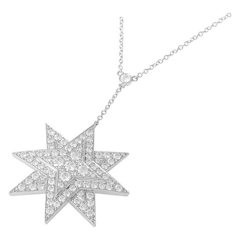 Tiffany and co diamond platinum eight point star pendant necklace diamond platinum eight point star pendant necklace for sale aloadofball Choice Image
